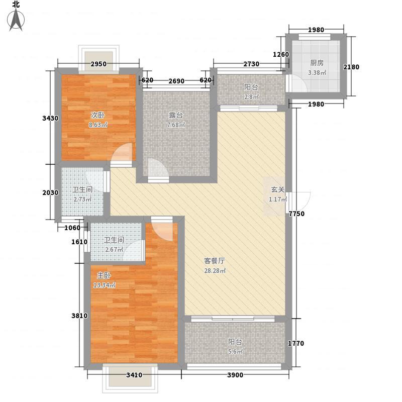 千年美丽11.37㎡G5户型3室2厅2卫1厨