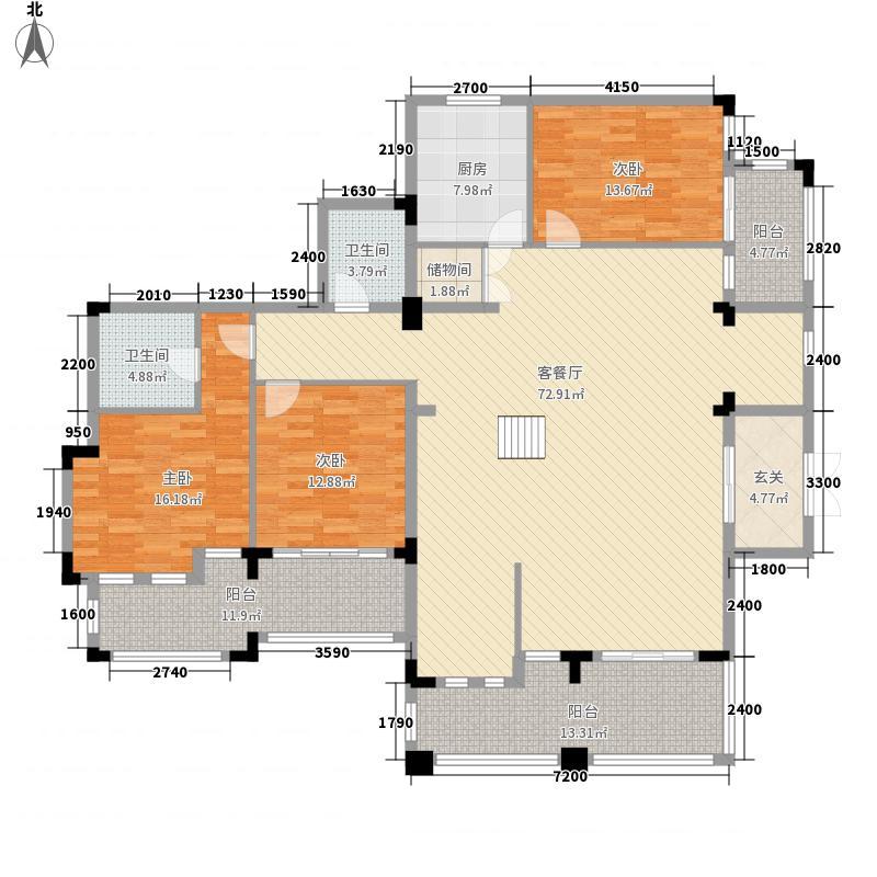 班芙小镇18.64㎡B2-2、B4-2户型3室2厅2卫1厨