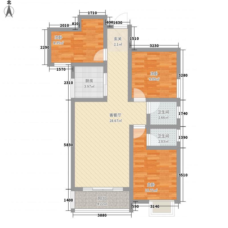 井大・魅力天城12.70㎡3#C户型3室2厅2卫