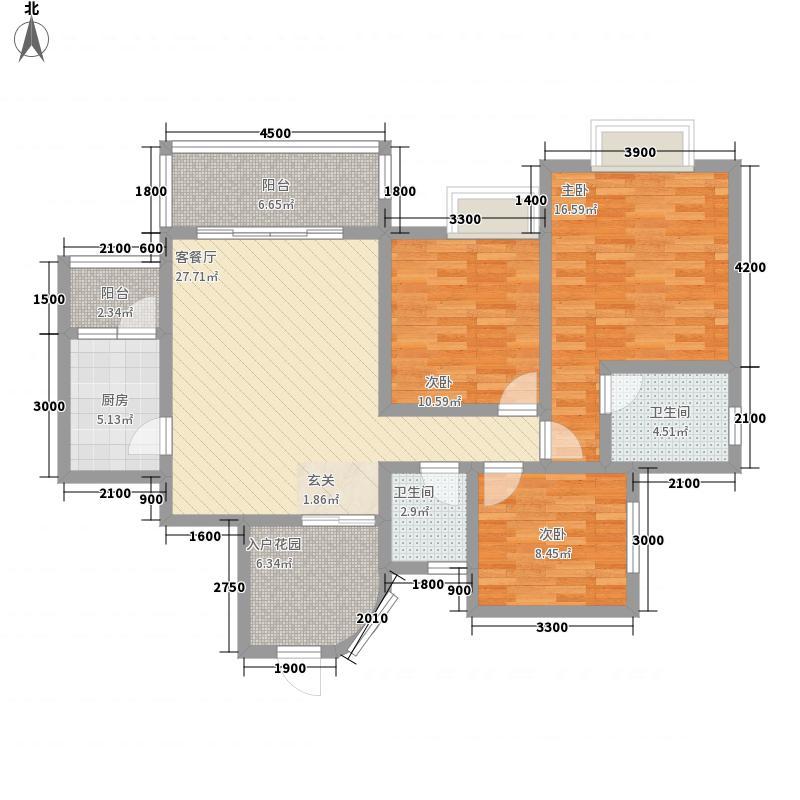 升华广场34115.52㎡3、4B型双卫户型3室2厅2卫1厨
