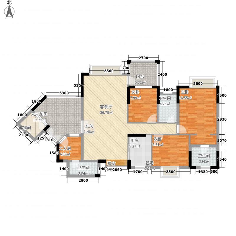 里维埃拉13.00㎡13I2型户型3室2厅3卫