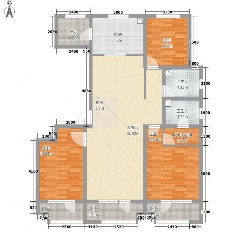 未来城户型3室2厅2卫1厨