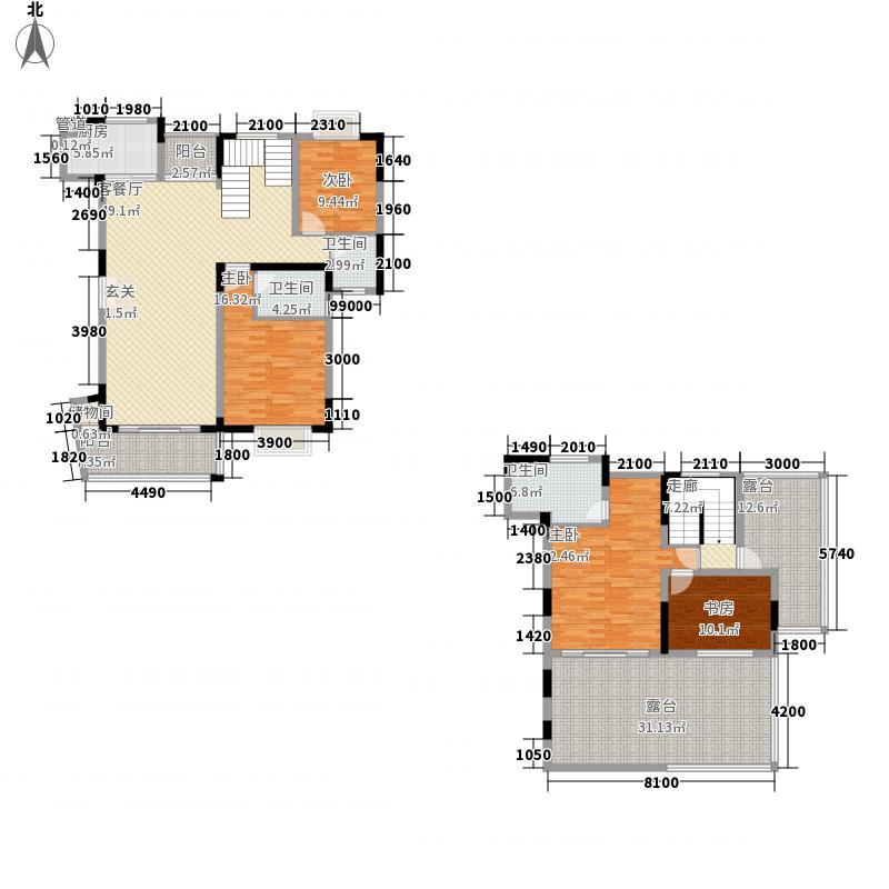 里维埃拉211.63㎡J户型4室2厅3卫