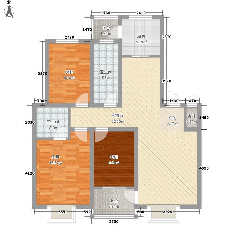 南关新型社区123.17㎡户型
