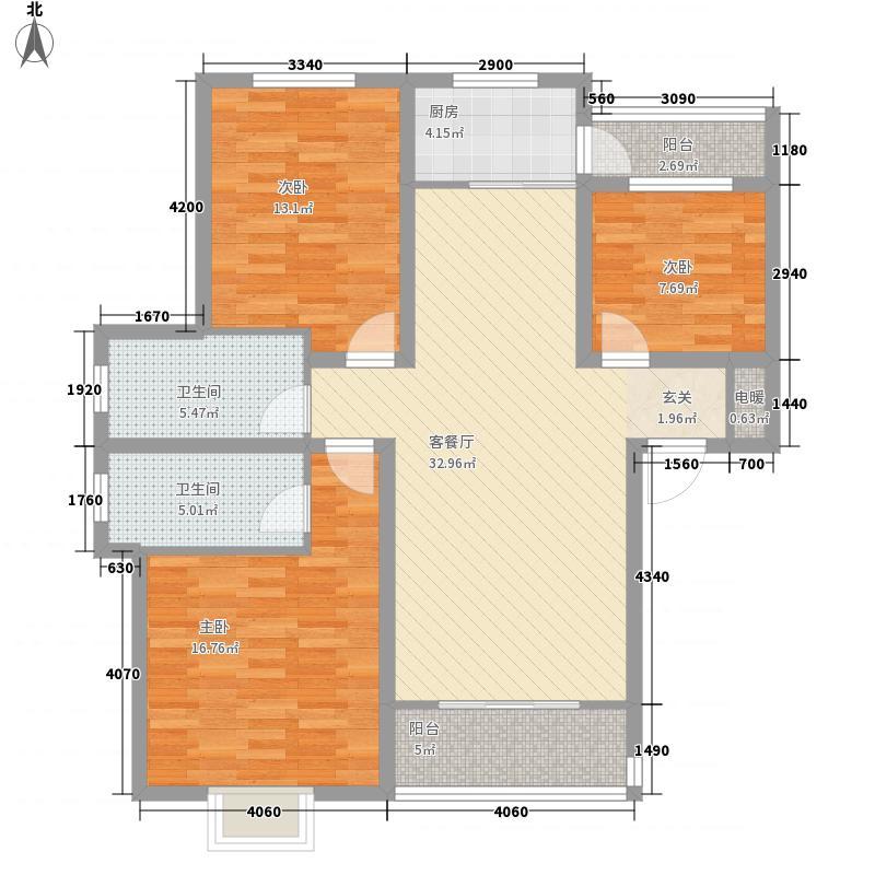 南关新型社区133.78㎡户型
