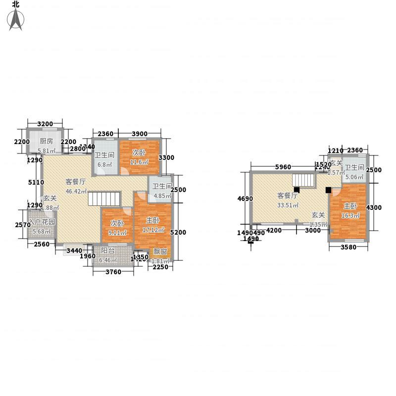 义和花园12.00㎡B4别墅(东)户型5室3厅3卫1厨