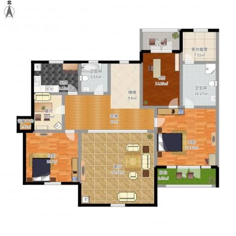 拙墅3室2厅2卫1厨248.00㎡户型图