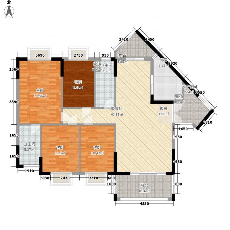 家和・水岸沁园3162.82㎡第3A栋D户型4室2厅2卫