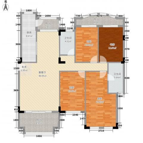 幸福里4室1厅2卫1厨144.00㎡户型图