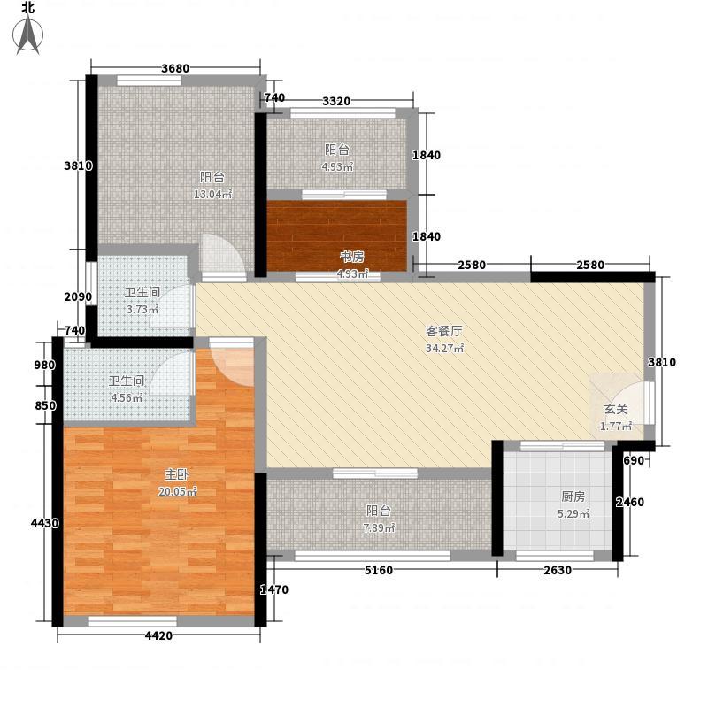 时代外滩8.34㎡户型2室2厅2卫