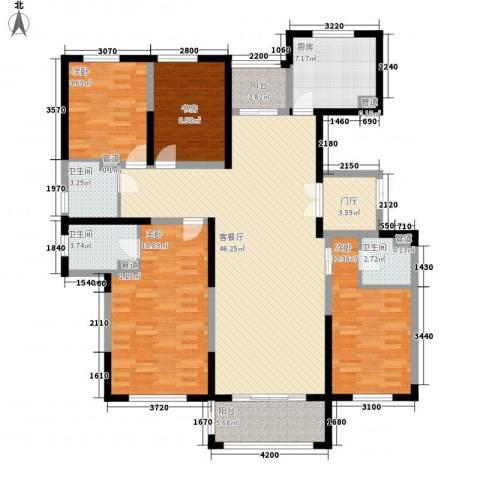 东方米兰国际城4室1厅3卫1厨175.00㎡户型图