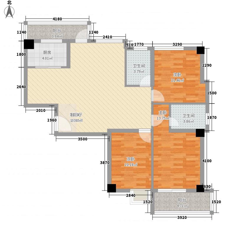 华友第一城23132.20㎡2#、3#楼01、04户型3室2厅2卫1厨