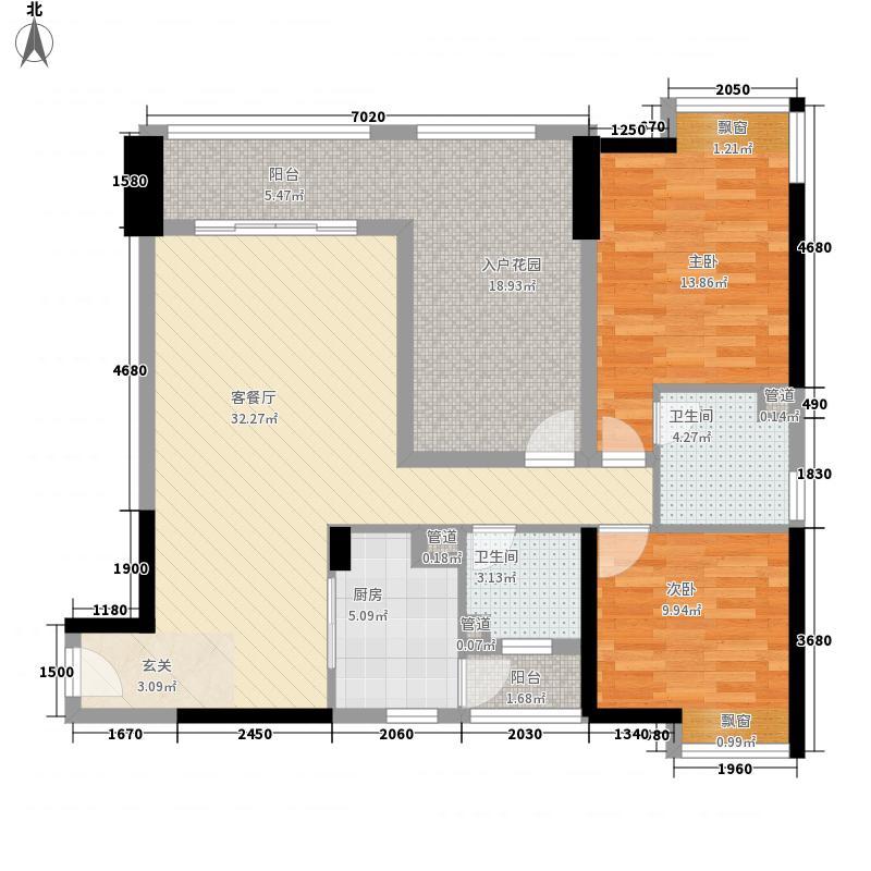 恒兴棕榈公馆118.00㎡14栋03、15栋05户型3室2厅2卫1厨