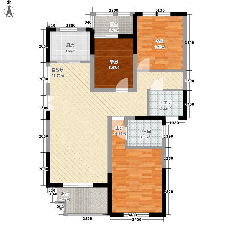 临商水岸明珠20#C_户型3室2厅2卫