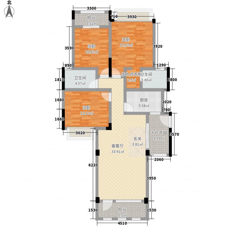 融豪・翡翠城128.00㎡B4F、5F、6F双卫户型3室2厅2卫1厨