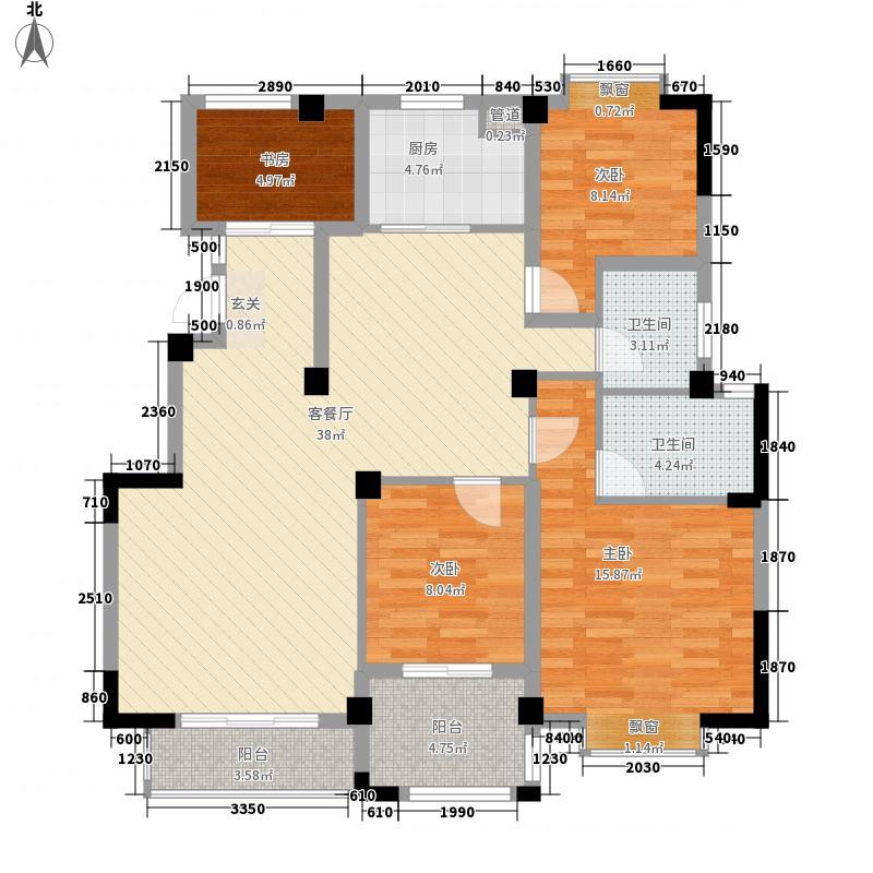 世纪阳光135.37㎡户型3室2厅2卫1厨