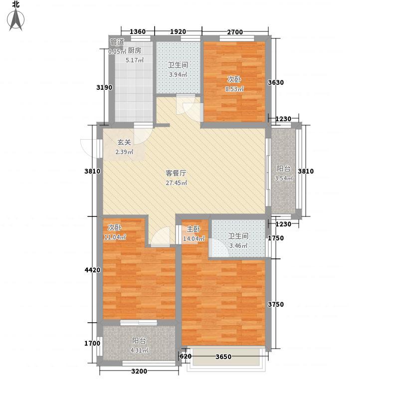 相寓112.00㎡二楼东边套户型3室2厅2卫1厨