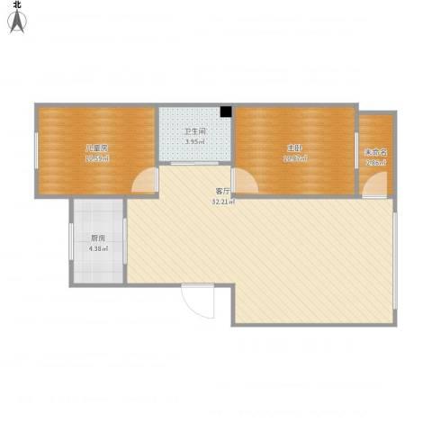营口红运平安家园小区2室1厅1卫1厨82.00㎡户型图