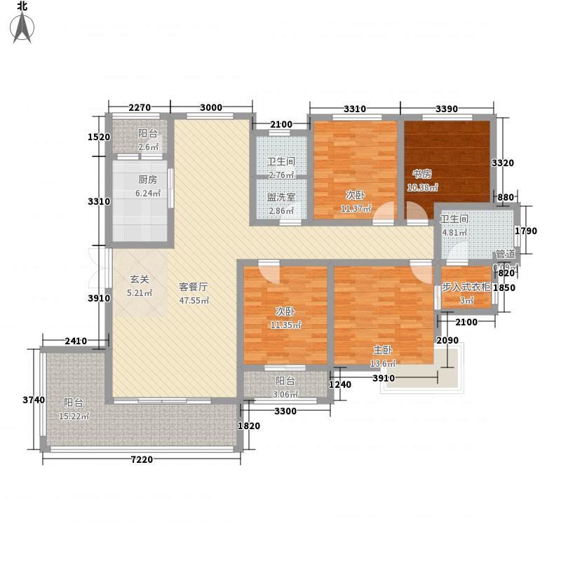 科瑞・瑞香苑176.80㎡F户型4室2厅2卫