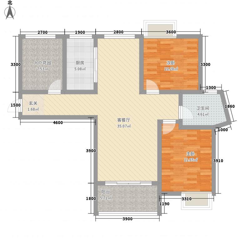 金域国际11.80㎡D3户型3室2厅1卫1厨