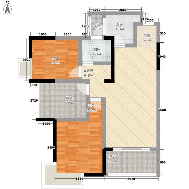 唯一国际4#住宅二单元9层03号房户型
