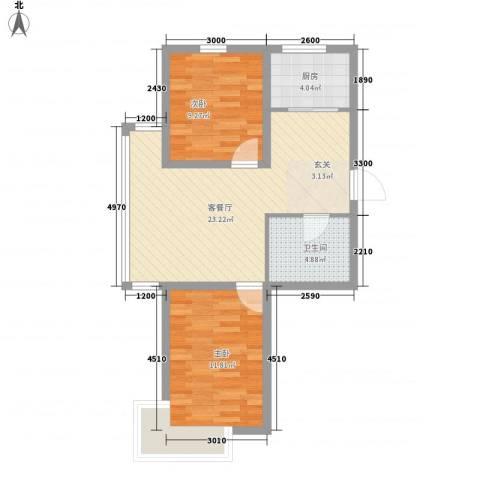 宝地-福湾2室1厅1卫1厨284.00㎡户型图