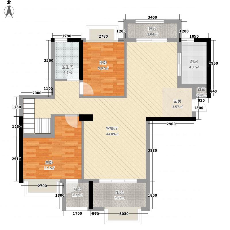 建发央郡2128.20㎡(2)户型5室2厅2卫1厨