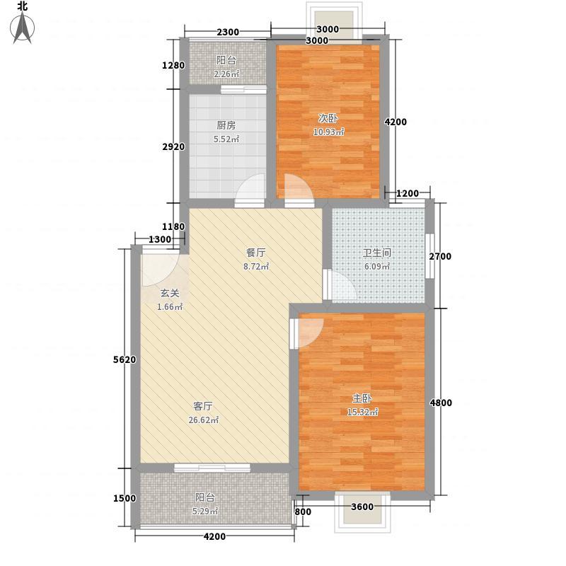 柏林小镇8.80㎡D#楼D-4户型2室2厅1卫