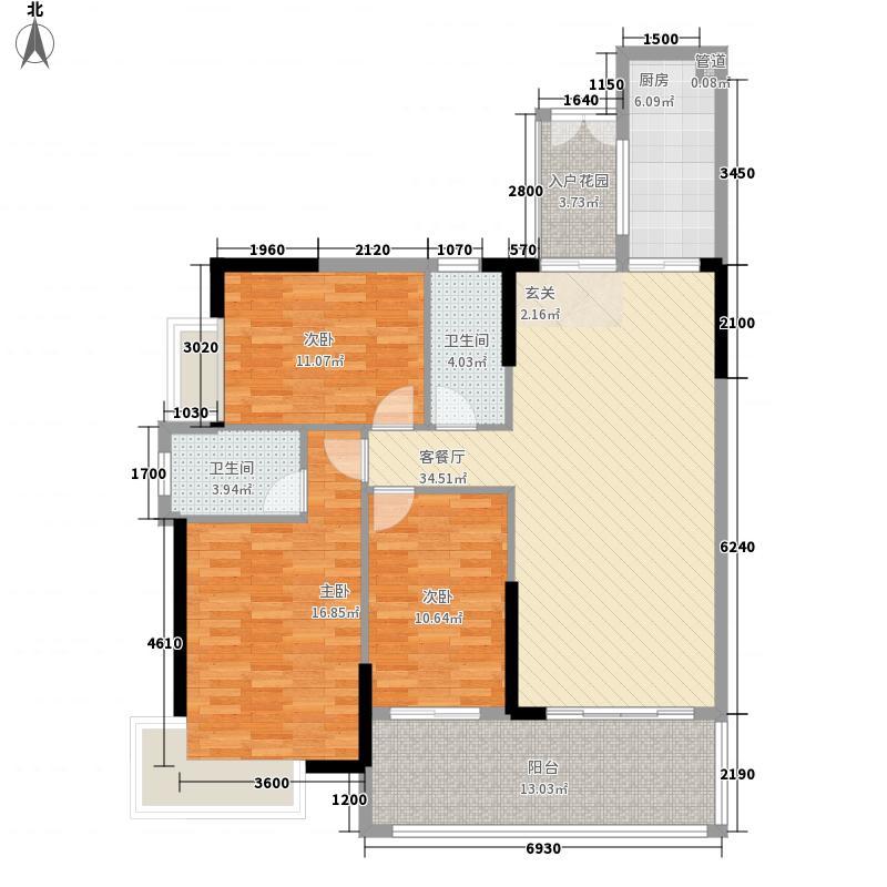 绿洲豪苑12.70㎡04/12户型3室2厅2卫1厨