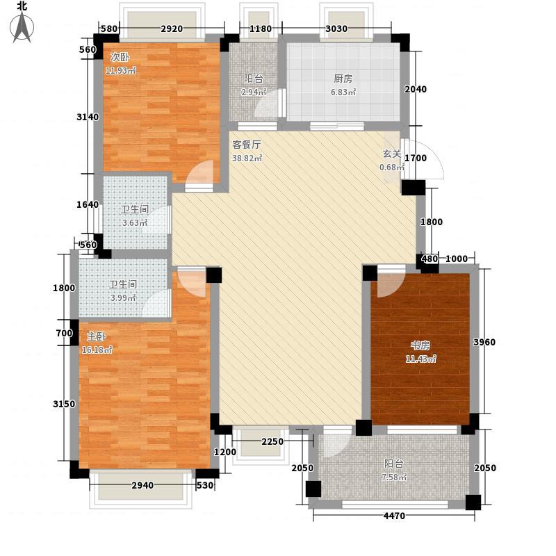 景臣御园125.36㎡3号楼与6号楼-A2户型3厅2卫2厨