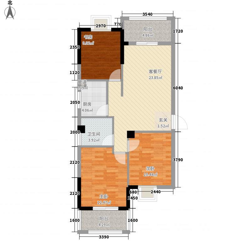 延州名郡・熙龙湾513.42㎡5#01户型3室2厅2卫