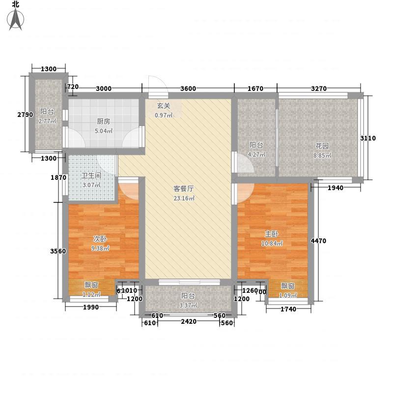 南湖林语384.52㎡户型3室2厅1卫