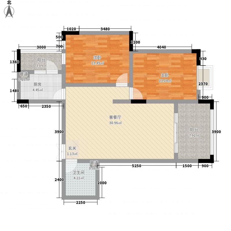 班芙小镇6.11㎡G-1户型2室2厅2卫1厨