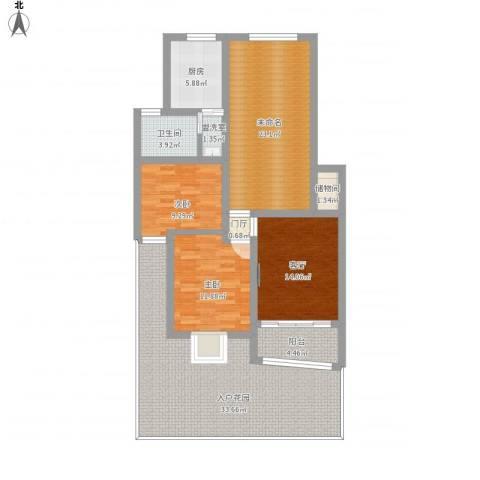 贝越佳园2室2厅1卫1厨161.00㎡户型图