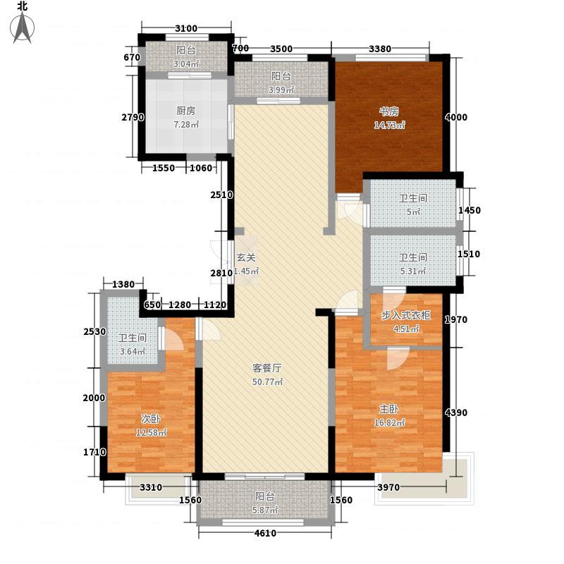 绿地世纪城12.21㎡单页C1完稿户型3室2厅3卫1厨