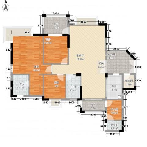 里维埃拉3室1厅3卫1厨153.00㎡户型图