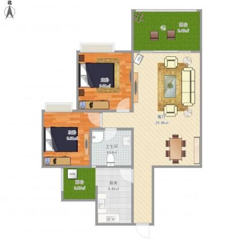 紫东梵谷一期C72室1厅1卫1厨76.02㎡户型图