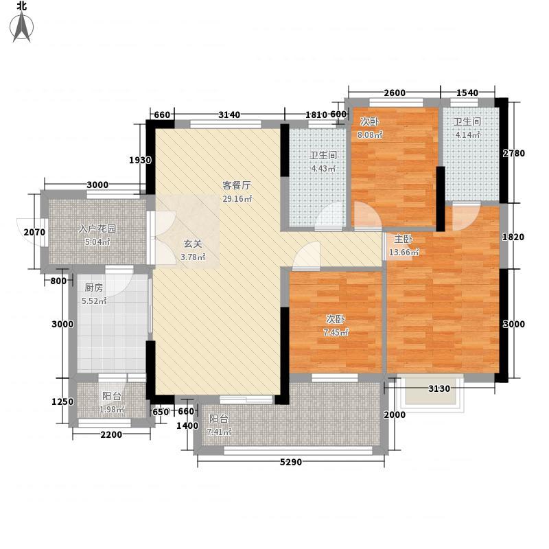 深业・塞纳湾11.32㎡洋房户型3室2厅2卫1厨