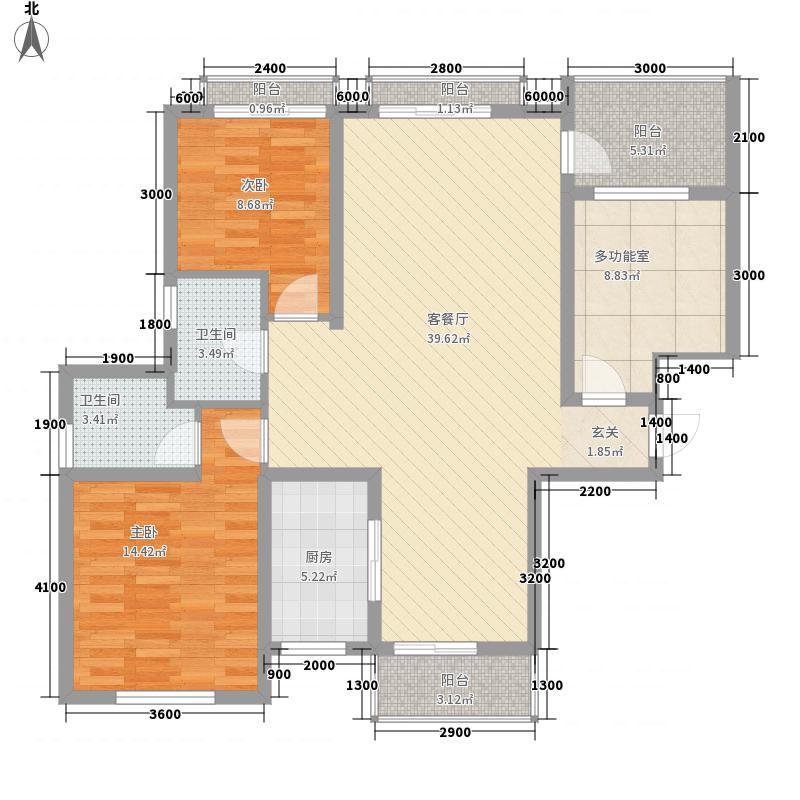 悠山丽景118.50㎡D2户型3室2厅2卫1厨