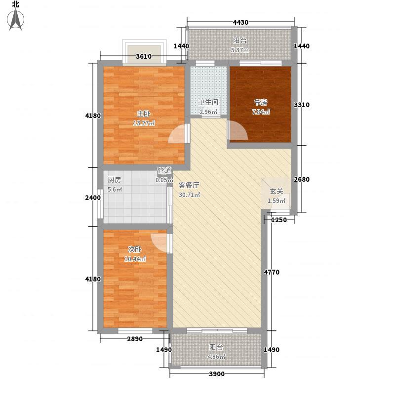 新加坡城5.84㎡乐居户型3室2厅1卫1厨