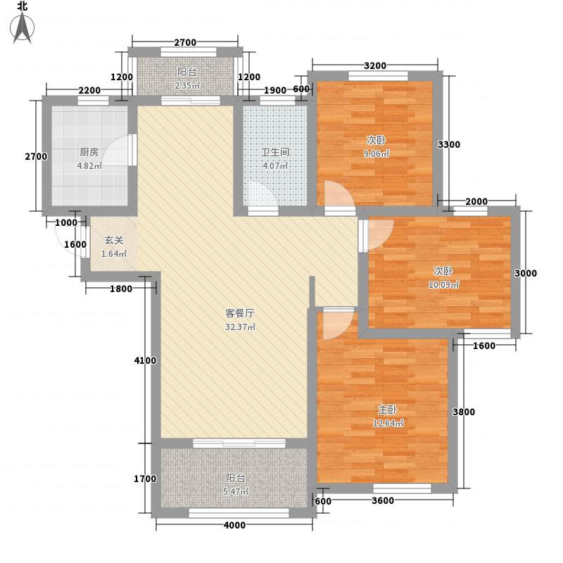 大发・宜景城三期17.72㎡B3户型3室2厅1卫1厨