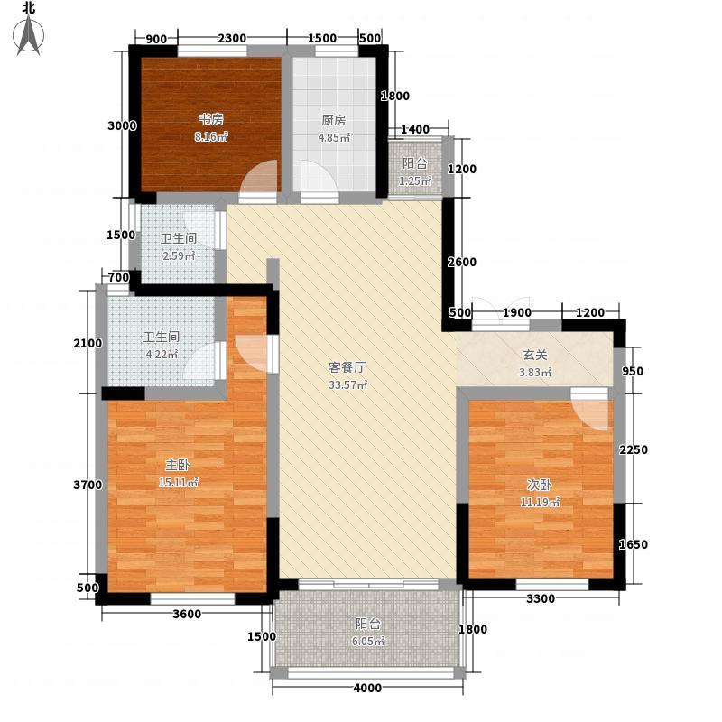 大发・宜景城三期11.22㎡C3户型3室2厅2卫1厨