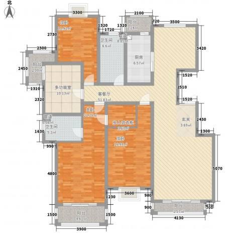 尚东城3室1厅2卫1厨147.18㎡户型图