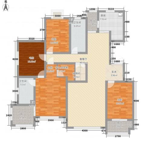 尚东城4室1厅2卫1厨138.08㎡户型图