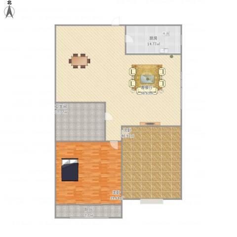 海荣豪佳花园2室1厅1卫1厨283.00㎡户型图