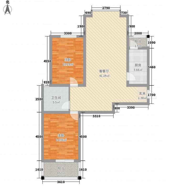 缔景城沙河17.00㎡缔景城户型2室2厅1卫