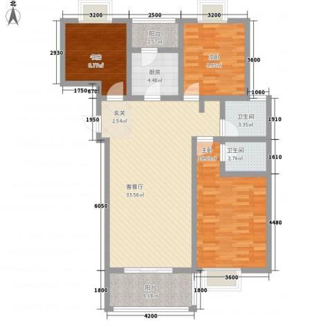 众亿名门3室1厅2卫1厨2114.00㎡户型图