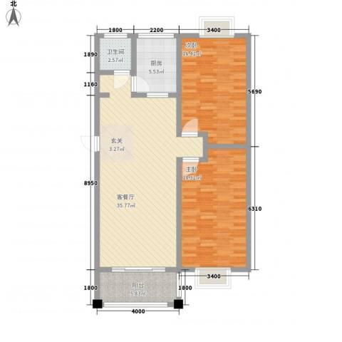 众亿名门2室1厅1卫1厨212.00㎡户型图