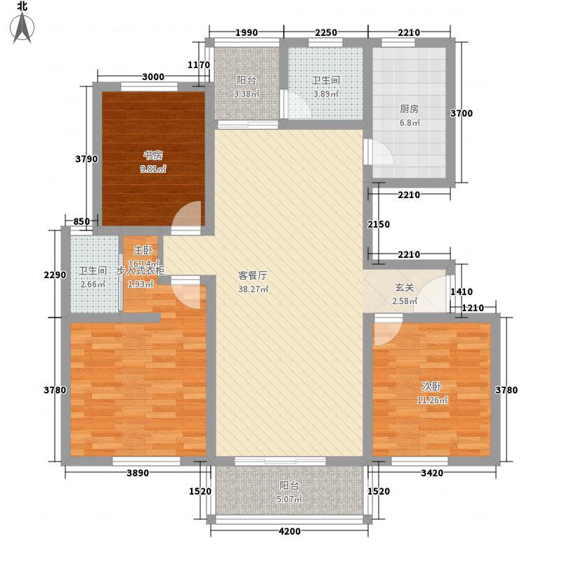 南湖林语3125.12㎡户型3室2厅2卫