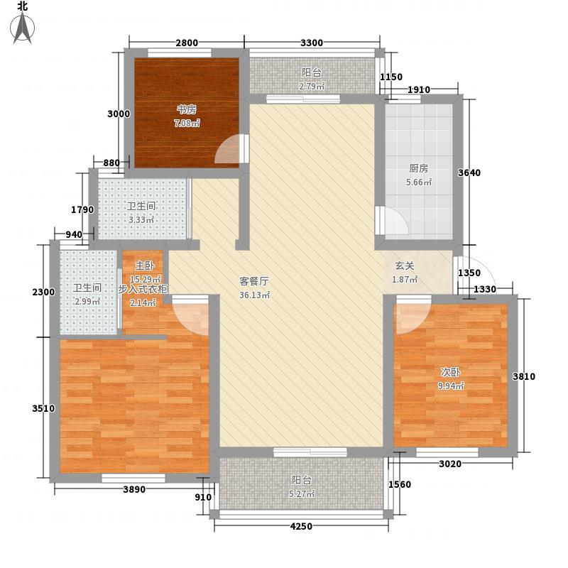 南湖林语3116.44㎡户型3室2厅2卫